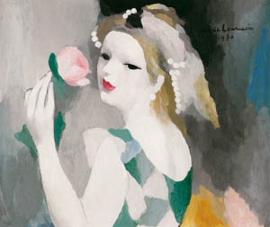 マリー・ローランサン – ばらの女 (マリー・ローランサンとその時代展 巴里に魅せられた画家たちより)のサムネイル画像