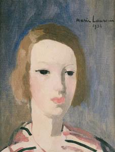 マリー・ローランサン – スウェーデン娘 (マリー・ローランサンとその時代展 巴里に魅せられた画家たちより)のサムネイル画像