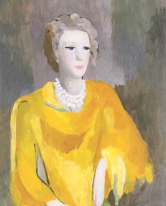 マリー・ローランサン – アンドレ・グルー夫人 (二コル・ポワレ) (マリー・ローランサンとその時代展 巴里に魅せられた画家たちより)のサムネイル画像