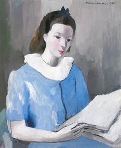 マリー・ローランサン – シュザンヌ・モロー (青い服) (マリー・ローランサンとその時代展 巴里に魅せられた画家たちより)のサムネイル画像