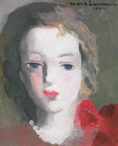 マリー・ローランサン – 女の顔 (マリー・ローランサンとその時代展 巴里に魅せられた画家たちより)のサムネイル画像