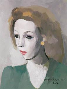 マリー・ローランサン – カトリーヌ・ジッド (マリー・ローランサンとその時代展 巴里に魅せられた画家たちより)のサムネイル画像