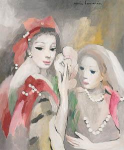マリー・ローランサン – モンテスバンとラヴァリエール (マリー・ローランサンとその時代展 巴里に魅せられた画家たちより)のサムネイル画像