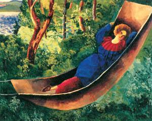 モイズ・キスリング – ハンモックの婦人 (マリー・ローランサンとその時代展 巴里に魅せられた画家たちより)のサムネイル画像