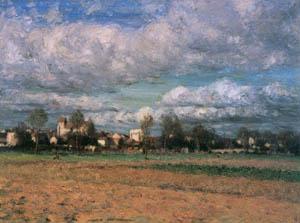 児島虎次郎 – グレー村の風景 (マリー・ローランサンとその時代展 巴里に魅せられた画家たちより)のサムネイル画像