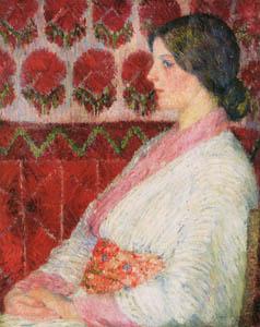 児島虎次郎 – 和服を着たベルギーの少女 (マリー・ローランサンとその時代展 巴里に魅せられた画家たちより)のサムネイル画像