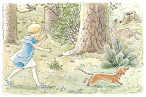 thumbnail Elsa Beskow – Plate 4 [from Princess Sylvie]