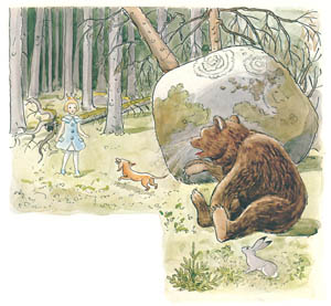 thumbnail Elsa Beskow – Plate 9 [from Princess Sylvie]