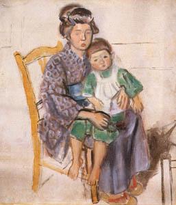 thumbnail Yasui Sōtarō – Family [from Sōtarō Yasui: the 100th anniversary of his birth]
