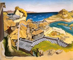 thumbnail Yasui Sōtarō – Landscape in the Boso Peninsula [from Sōtarō Yasui: the 100th anniversary of his birth]
