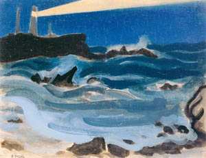 thumbnail Yasui Sōtarō – Sunset at Cape Inubō [from Sōtarō Yasui: the 100th anniversary of his birth]