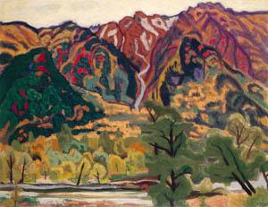 thumbnail Yasui Sōtarō – Mt.Kasumizawa in Autumn [from Sōtarō Yasui: the 100th anniversary of his birth]