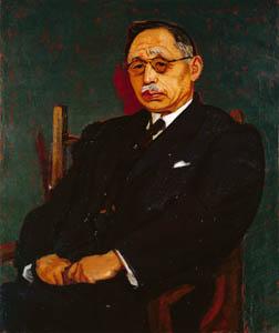 thumbnail Yasui Sōtarō – Portrait of prof. Mataro Nagayo [from Sōtarō Yasui: the 100th anniversary of his birth]