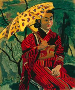 thumbnail Yasui Sōtarō – Woman with a Parasol [from Sōtarō Yasui: the 100th anniversary of his birth]