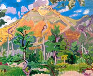 thumbnail Yasui Sōtarō – Mount Yake [from Sōtarō Yasui: the 100th anniversary of his birth]