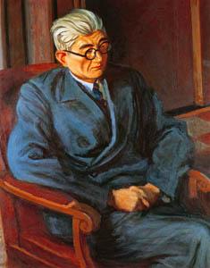 thumbnail Yasui Sōtarō – Portrait of Mr. Fujiyama [from Sōtarō Yasui: the 100th anniversary of his birth]