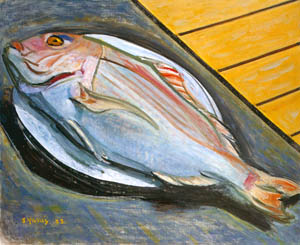thumbnail Yasui Sōtarō – Sea Bream [from Sōtarō Yasui: the 100th anniversary of his birth]