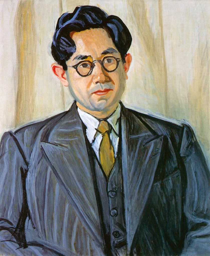 Yasui Sōtarō – Portrait of Ōhara [from Sōtarō Yasui: the 100th anniversary of his birth]