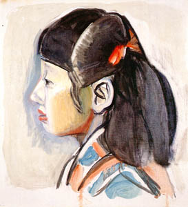 thumbnail Yasui Sōtarō – Granddaughter [from Sōtarō Yasui: the 100th anniversary of his birth]