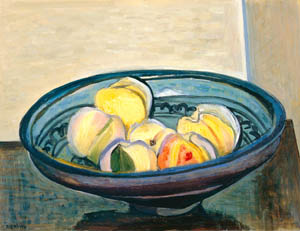 thumbnail Yasui Sōtarō – Peaches and Persian Bowl [from Sōtarō Yasui: the 100th anniversary of his birth]