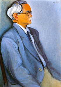 thumbnail Yasui Sōtarō – Portrait of Mr. Nosei Abe [from Sōtarō Yasui: the 100th anniversary of his birth]