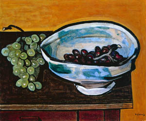 thumbnail Yasui Sōtarō – Grapes and Persian Bowl [from Sōtarō Yasui: the 100th anniversary of his birth]