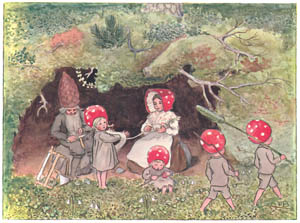 thumbnail Elsa Beskow – Plate 1 [from Children of the Forest]