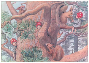 thumbnail Elsa Beskow – Plate 2 [from Children of the Forest]
