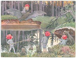 thumbnail Elsa Beskow – Plate 3 [from Children of the Forest]