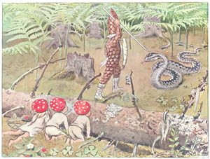thumbnail Elsa Beskow – Plate 4 [from Children of the Forest]