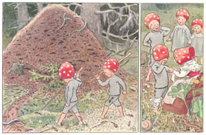 thumbnail Elsa Beskow – Plate 5 [from Children of the Forest]