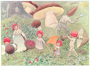 thumbnail Elsa Beskow – Plate 7 [from Children of the Forest]