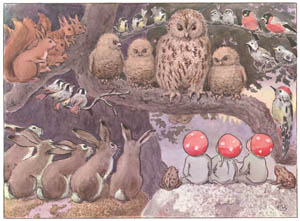 thumbnail Elsa Beskow – Plate 11 [from Children of the Forest]