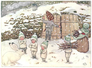 thumbnail Elsa Beskow – Plate 12 [from Children of the Forest]
