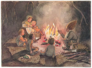 thumbnail Elsa Beskow – Plate 14 [from Children of the Forest]