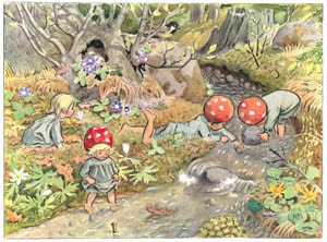 thumbnail Elsa Beskow – Plate 15 [from Children of the Forest]