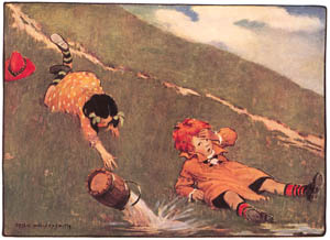 thumbnail Jessie Willcox Smith – Jack fell down and broke his crown [from Mother Goose]