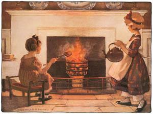 thumbnail Jessie Willcox Smith – Polly put the kettle on, Polly put the kettle on [from Mother Goose]