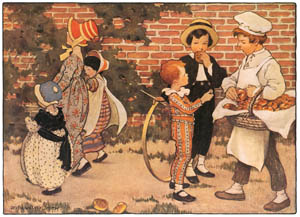 thumbnail Jessie Willcox Smith – Hot-cross buns, Hot-cross buns [from Mother Goose]