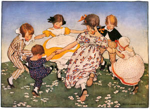 thumbnail Jessie Willcox Smith – Ring a-round a rosie [from Mother Goose]
