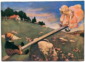 ジェシー・ウィルコックス・スミス – シーソー、マジョリー・ドー (マザー・グースより)のサムネイル画像