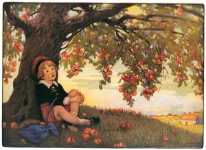 thumbnail Jessie Willcox Smith – A diller, a dollar, a ten o'clock scholar [from Mother Goose]