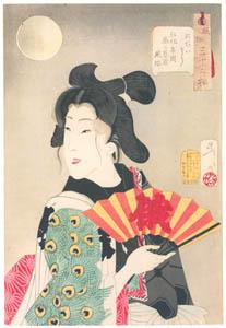 thumbnail Tsukioka Yoshitoshi – Looks Good', Mannerisms of a Pleasure Quarter Geisha from the Kyoka Period [from Thirty-two Aspects of Women]