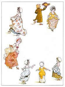 thumbnail Kate Greenaway – THE DANCING FAMILY [from Marigold Garden]
