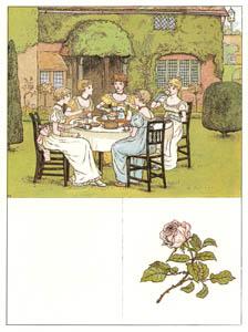 ケイト・グリーナウェイ – お茶会 (マリーゴールド・ガーデンより)のサムネイル画像