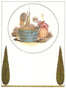 ケイト・グリーナウェイ – モーリーお嬢さんと小魚たち (マリーゴールド・ガーデンより)のサムネイル画像
