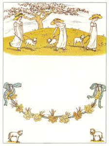 ケイト・グリーナウェイ – 女の子と子羊たち (マリーゴールド・ガーデンより)のサムネイル画像
