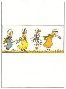 ケイト・グリーナウェイ – ピョンと跳ねる女の子たち (マリーゴールド・ガーデンより)のサムネイル画像