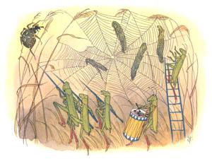 エルンスト・クライドルフ – クモのとりこ (バッタさんのきせつより)のサムネイル画像