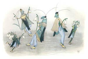 エルンスト・クライドルフ – 冬のたのしみ (バッタさんのきせつより)のサムネイル画像